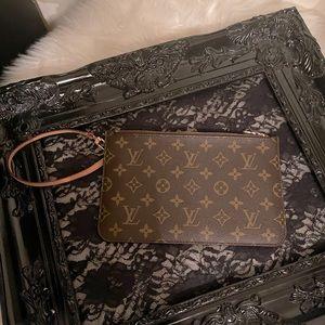 Louis Vuitton monogram Pouch wristlet.